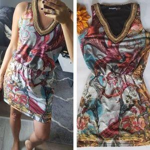 DESIGUAL V NECK DRESS